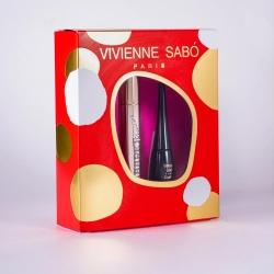 VIVIENNE SABO Подарочный набор/Тушь Cabaret Premiere черная 01 + Подводка для глаз жидкая-водостойкая Charbon тон 01/черный