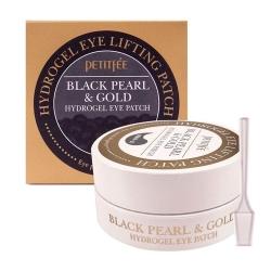 Патчи вокруг глаз Black Pearl & Gold Hydrogel Eye Patch (Petitfee)