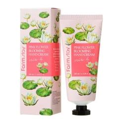 Крем для рук  Pink Flower Blooming Hand Water lily  100мл