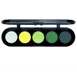 Палетка теней T08 - Золотисто-зелёная