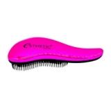 Расчестка для волос пластик / Розовая 18*7см