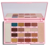 Тени и хайлайтеры Makeup Revolution Eyeshadow & Highlighter Palette Kisu
